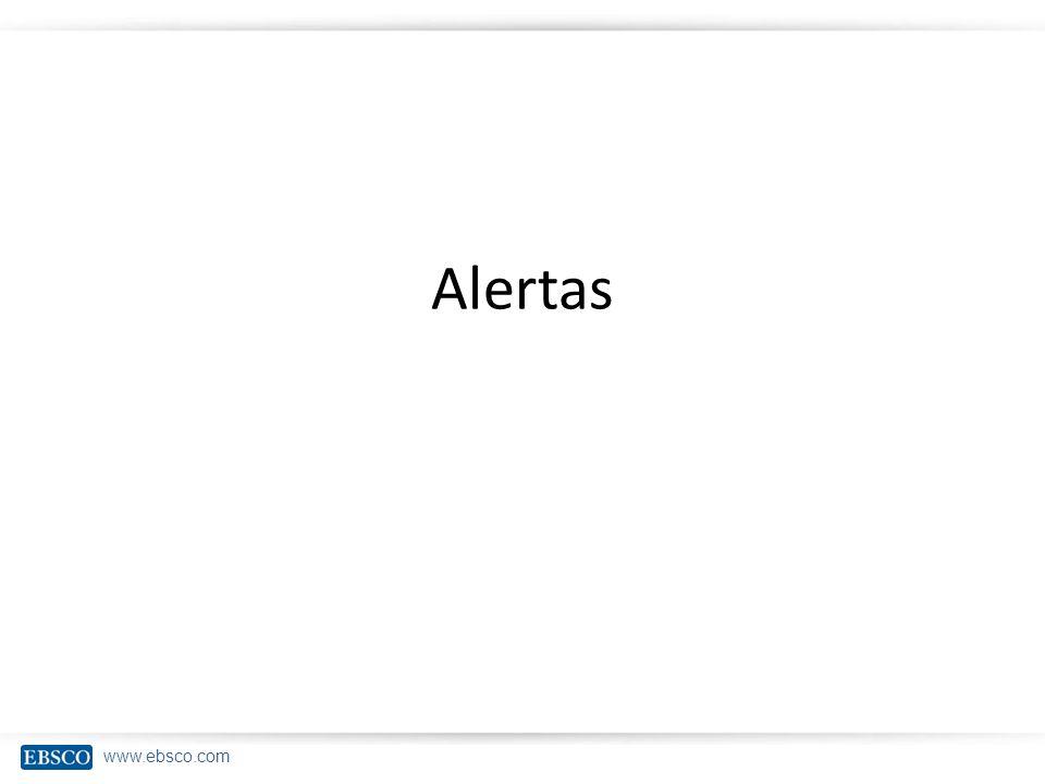 www.ebsco.com Alertas