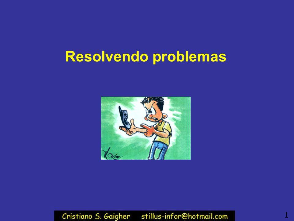 Resolvendo problemas 1