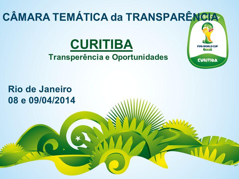 CÂMARA TEMÁTICA da TRANSPARÊNCIA CURITIBA Transperência e Oportunidades Rio de Janeiro 08 e 09/04/2014