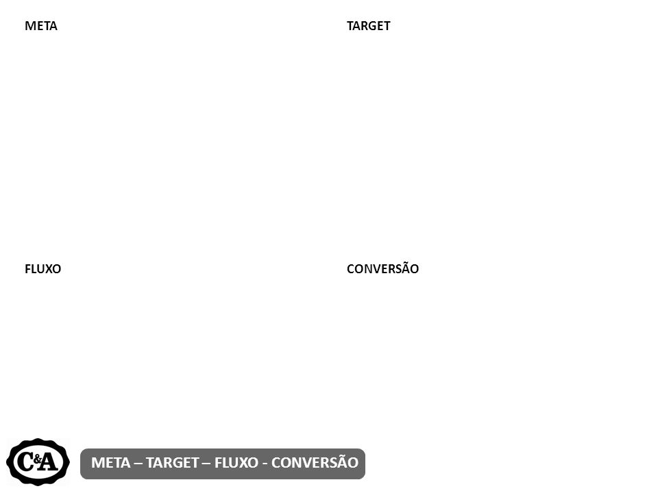META – TARGET – FLUXO - CONVERSÃO METATARGET FLUXOCONVERSÃO
