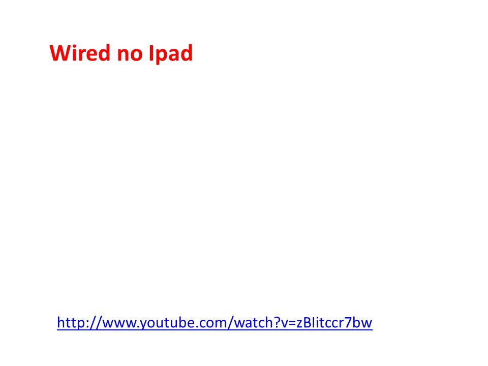 Wired no Ipad http://www.youtube.com/watch?v=zBIitccr7bw