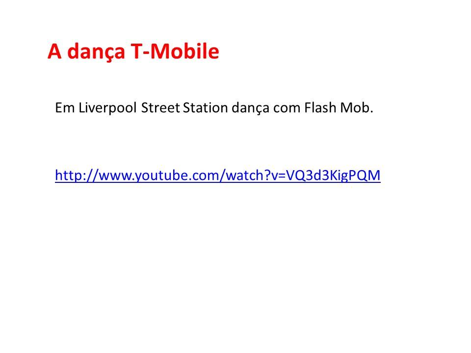 A dança T-Mobile Em Liverpool Street Station dança com Flash Mob. http://www.youtube.com/watch?v=VQ3d3KigPQM