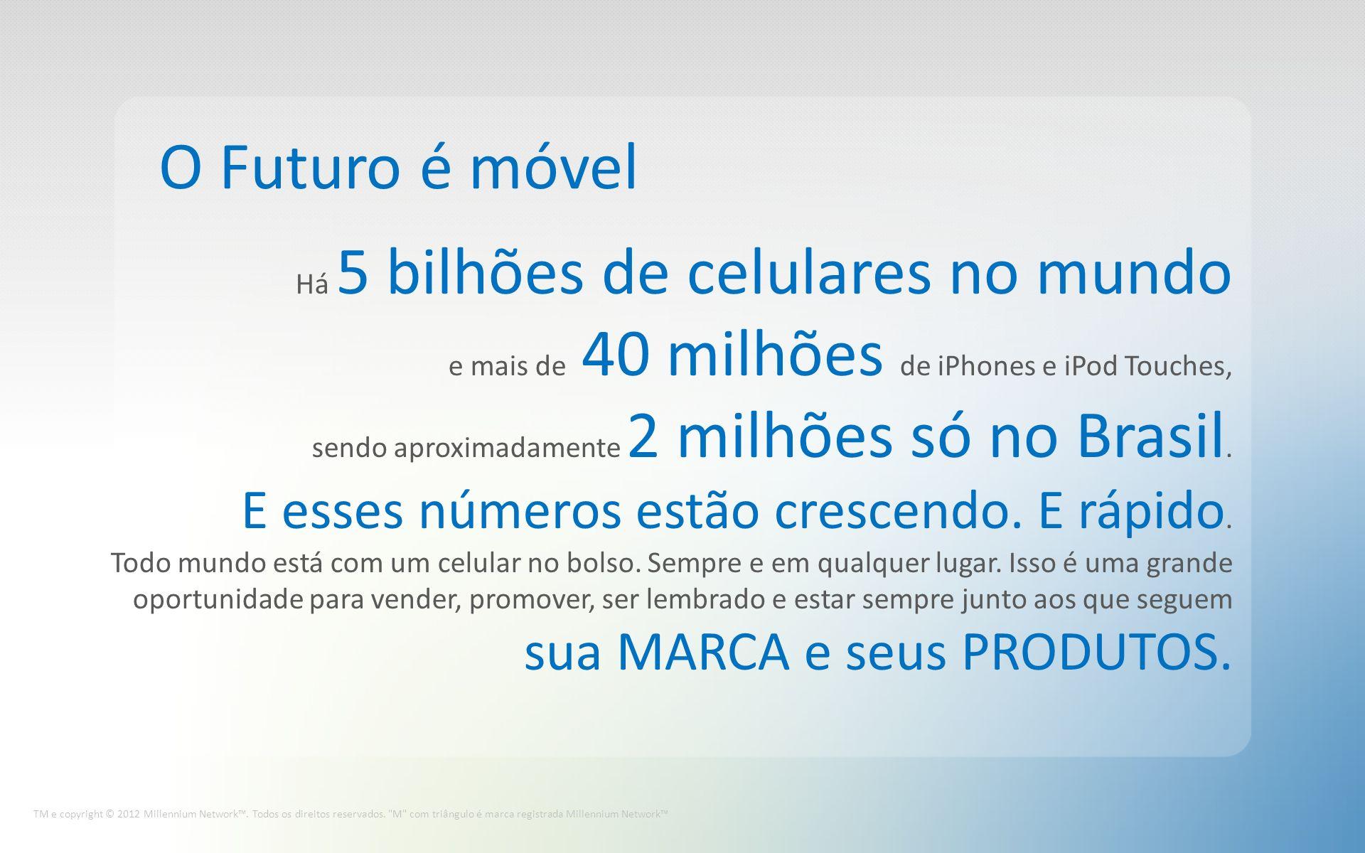 O Futuro é móvel TM e copyright © 2012 Millennium Network.