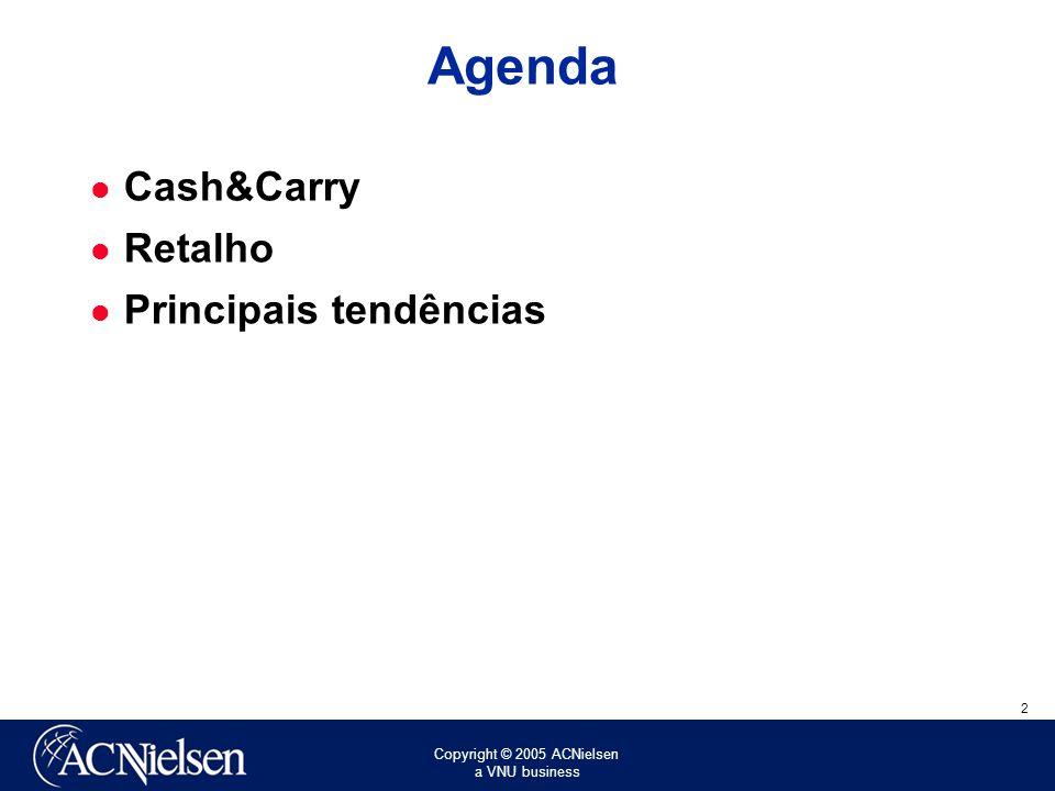 Copyright © 2005 ACNielsen a VNU business 2 Agenda Cash&Carry Retalho Principais tendências