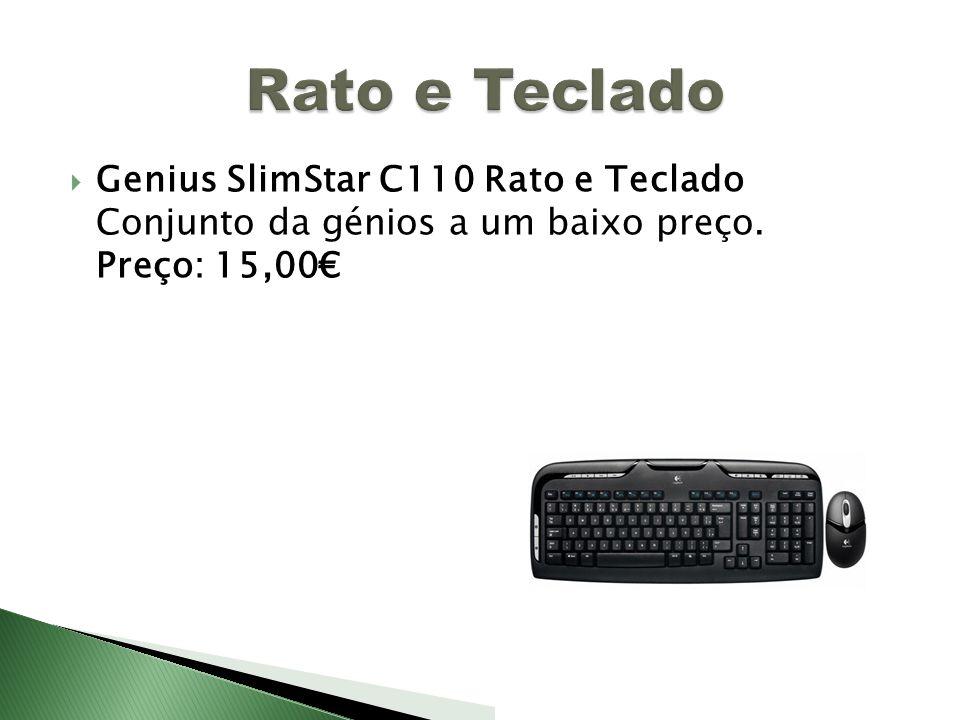Genius SlimStar C110 Rato e Teclado Conjunto da génios a um baixo preço. Preço: 15,00