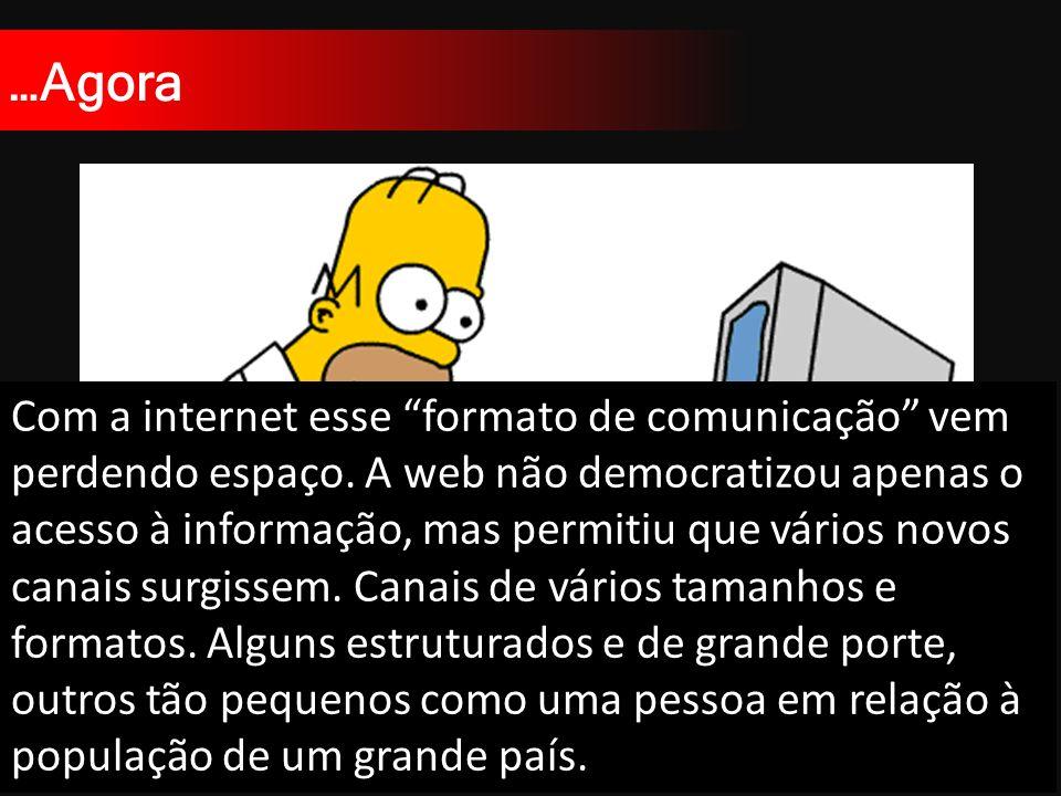 …Agora Com a internet esse formato de comunicação vem perdendo espaço.