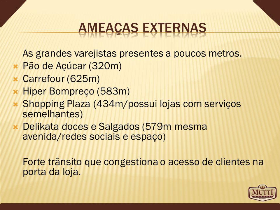 As grandes varejistas presentes a poucos metros. Pão de Açúcar (320m) Carrefour (625m) Hiper Bompreço (583m) Shopping Plaza (434m/possui lojas com ser