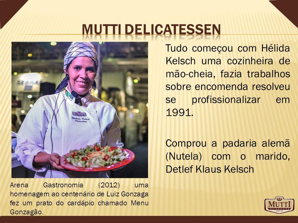 Atuante no mercado há 22 anos, a Mutti é uma delicatessen de inspiração alemã adaptada à cultura gastronômica brasileira na elaboração de alimentos.