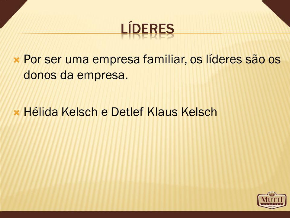 Por ser uma empresa familiar, os líderes são os donos da empresa. Hélida Kelsch e Detlef Klaus Kelsch