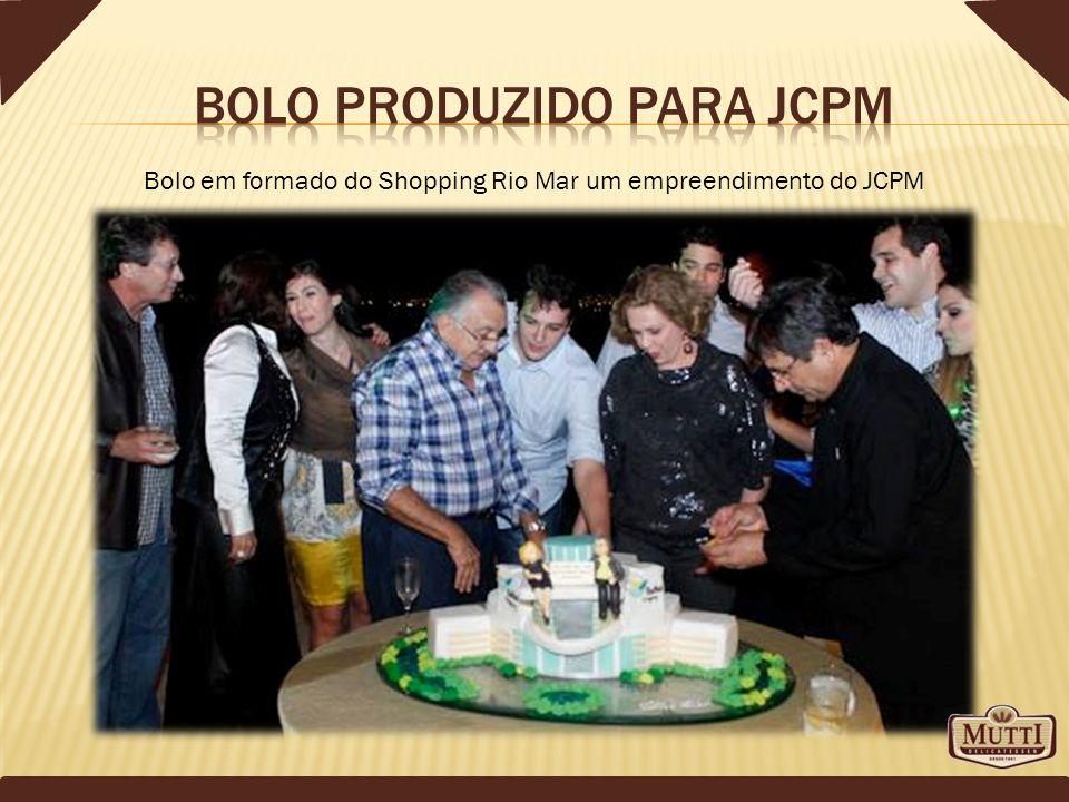 Bolo em formado do Shopping Rio Mar um empreendimento do JCPM