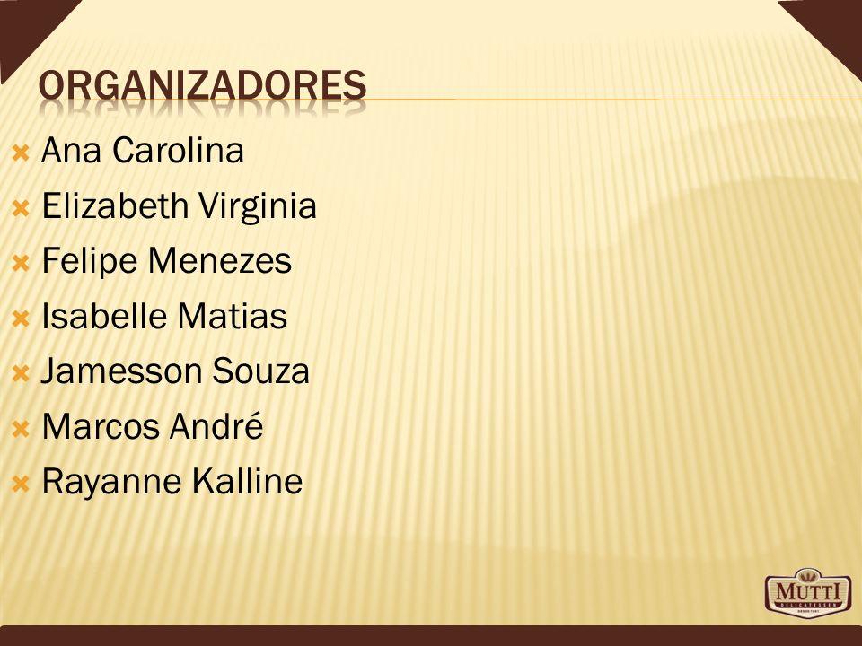 Ana Carolina Elizabeth Virginia Felipe Menezes Isabelle Matias Jamesson Souza Marcos André Rayanne Kalline