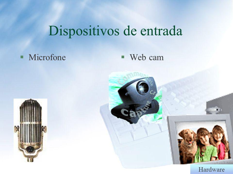 Hardware Dispositivos de entrada §Filmadora§Câmera digital