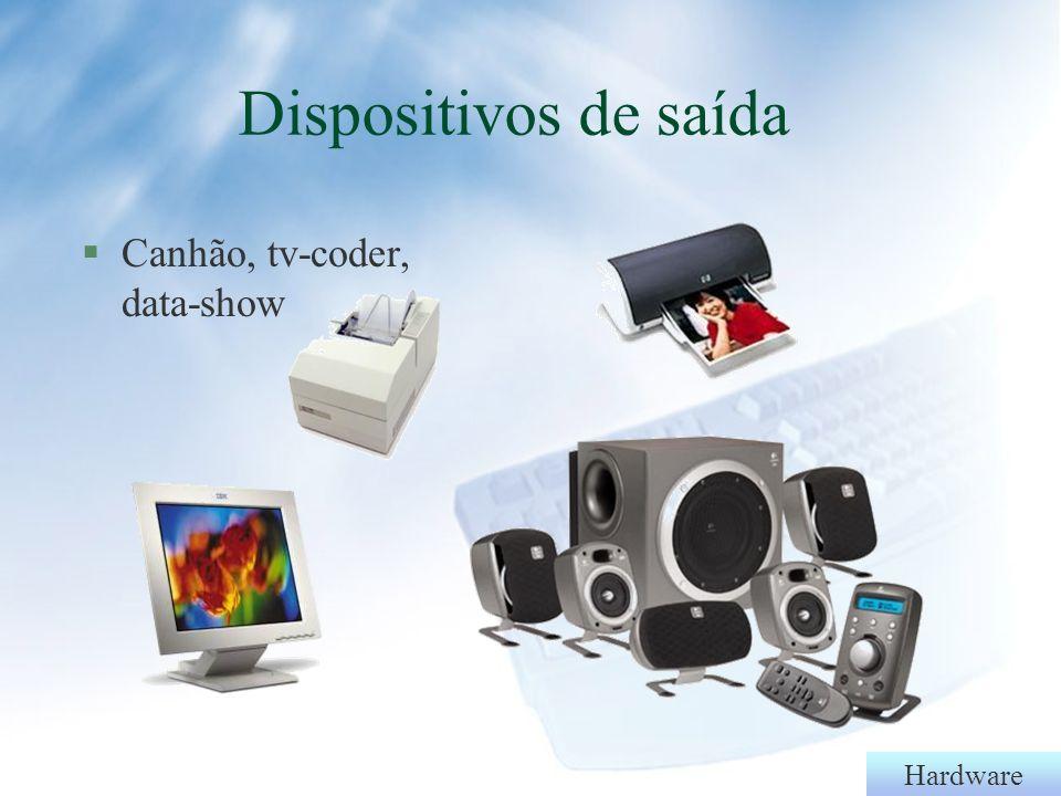 Hardware §Caixas de som§Óculos de realidade virtual Dispositivos de saída