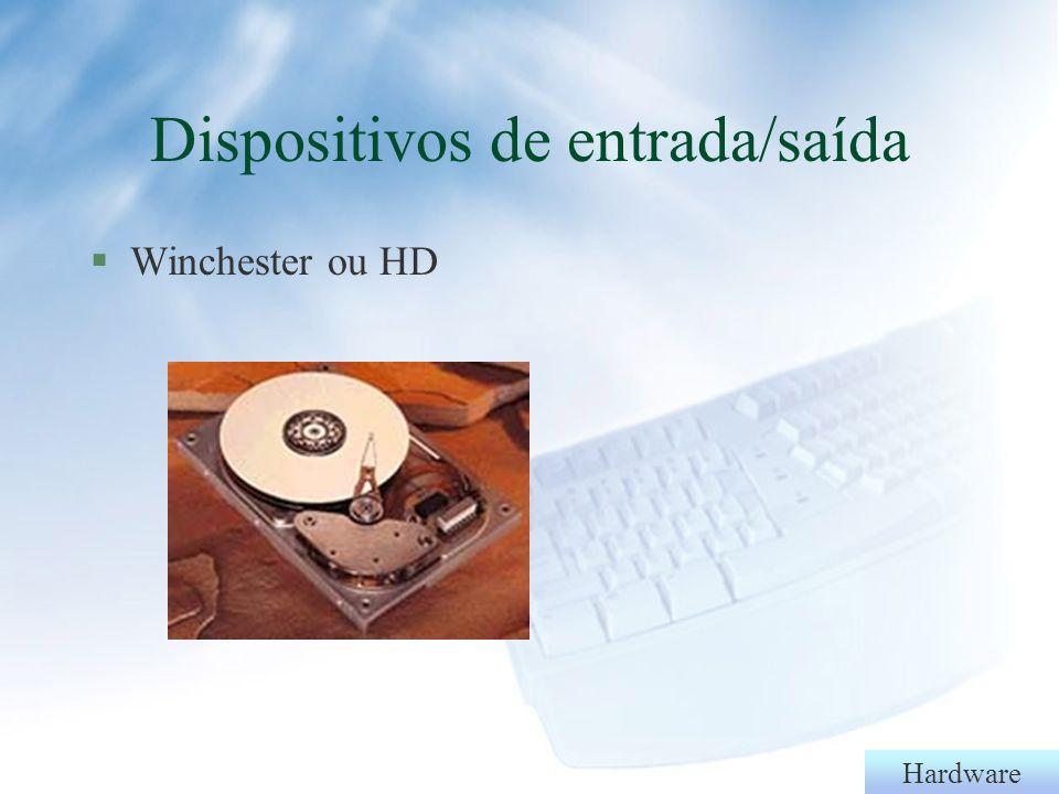 Hardware Dispositivos de entrada/saída §Drives (disquetes)
