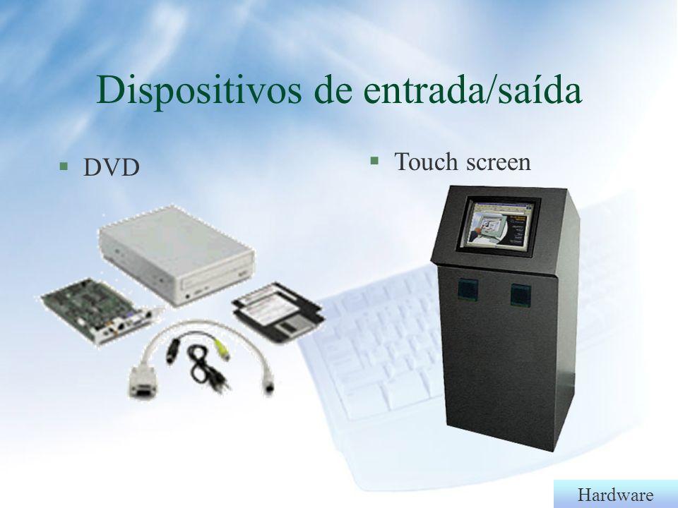 Hardware §Unidade gravadora de CD Dispositivos de entrada/saída