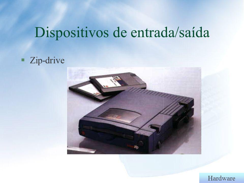 Hardware §DVD §T§Touch screen Dispositivos de entrada/saída