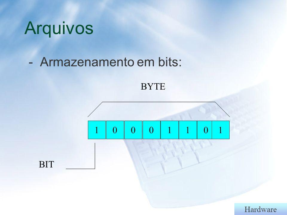 Hardware Hardware: memória principal e secundária § Memória principal l ROM l RAM (memória cache) §Memória secundária l Disquetes ou floppy disk l Winchester ou HD
