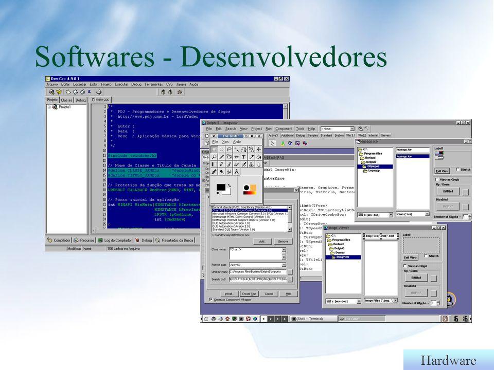 Hardware Software básico: sistema operacional Função: gerenciar a máquina controlando a gravação dos discos, o gerenciamento de memória, o tráfego de informações além das funções constituintes do equipamento.