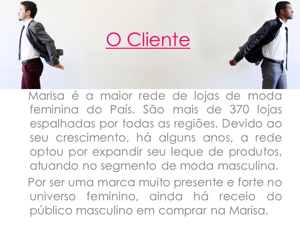 Com 60 anos de experiência, a Marisa é a maior rede de lojas especializadas em moda íntima feminina e uma das maiores redes de lojas de departamento de vestuário feminino, masculino e infantil do Brasil.