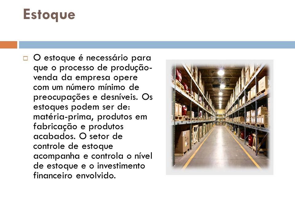 Estoque na empresa O empresa possui um conjunto de fornecedores pre estabelecidos que fornecem os produtos com o melhor preço possível.