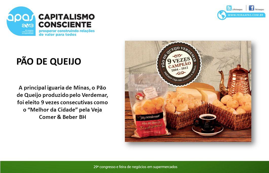 PÃO DE QUEIJO A principal iguaria de Minas, o Pão de Queijo produzido pelo Verdemar, foi eleito 9 vezes consecutivas como o Melhor da Cidade pela Veja