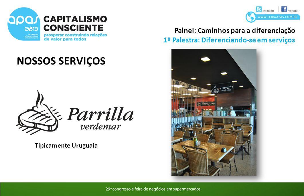 NOSSOS SERVIÇOS 1ª Palestra: Diferenciando-se em serviços Painel: Caminhos para a diferenciação Tipicamente Uruguaia