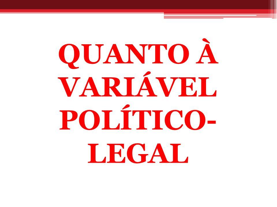 QUANTO À VARIÁVEL POLÍTICO- LEGAL