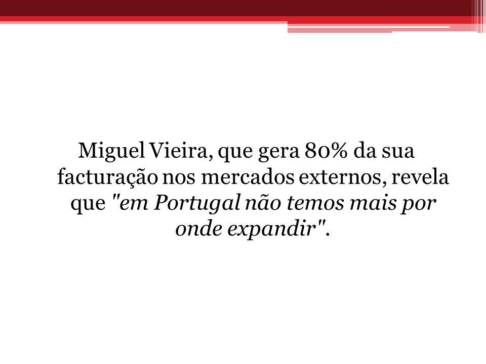 Miguel Vieira, que gera 80% da sua facturação nos mercados externos, revela que