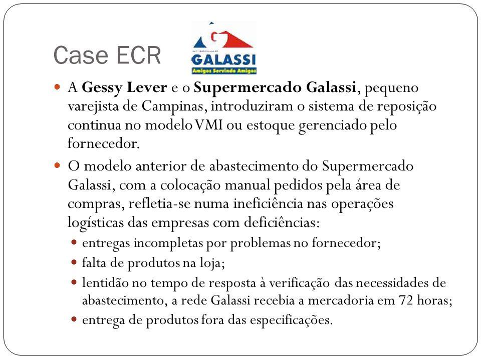 Case ECR A Gessy Lever e o Supermercado Galassi, pequeno varejista de Campinas, introduziram o sistema de reposição continua no modelo VMI ou estoque
