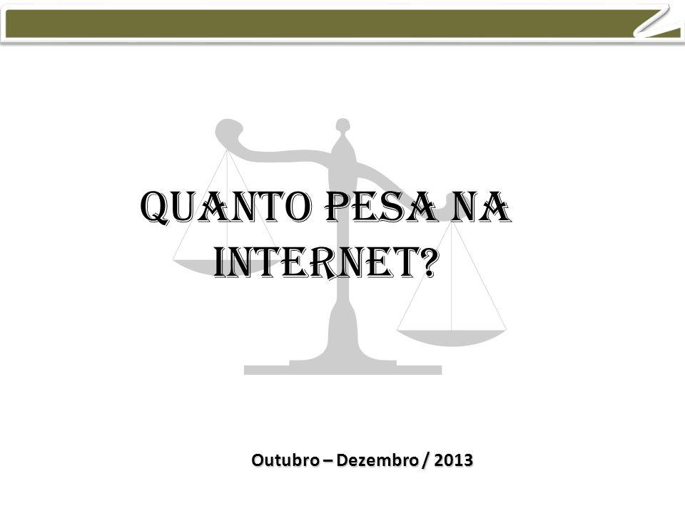 Quanto pesa na internet Outubro – Dezembro / 2013