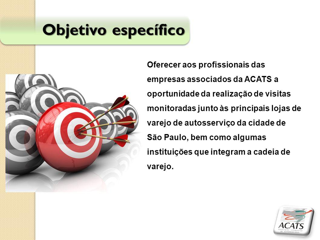 Objetivo específico Oferecer aos profissionais das empresas associados da ACATS a oportunidade da realização de visitas monitoradas junto às principai