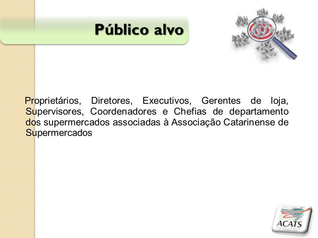 Público alvo Proprietários, Diretores, Executivos, Gerentes de loja, Supervisores, Coordenadores e Chefias de departamento dos supermercados associada