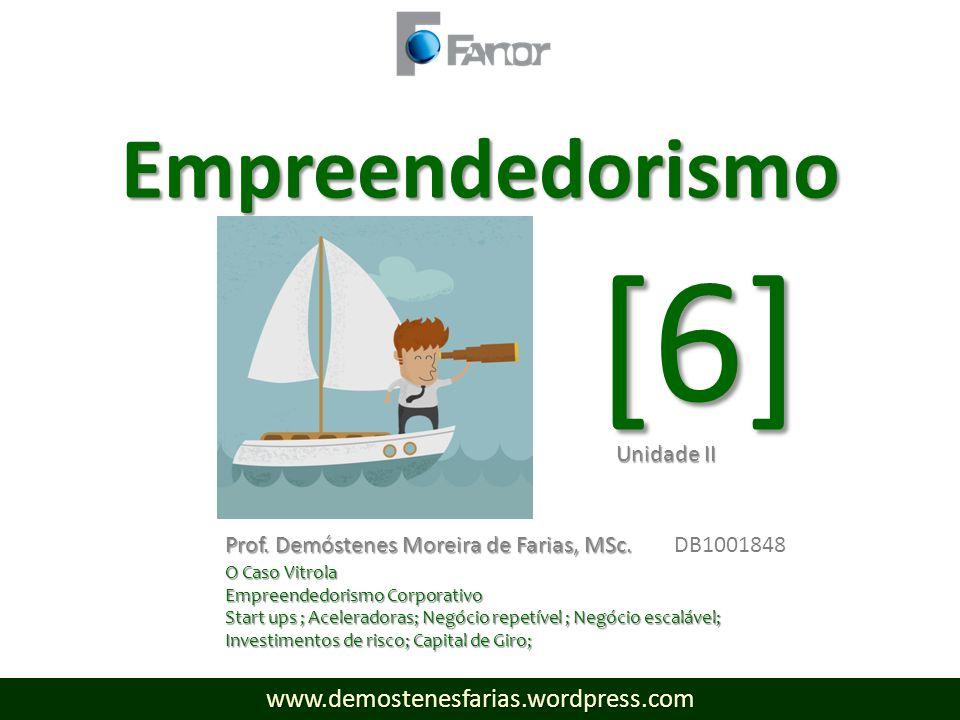 [6] www.demostenesfarias.wordpress.com Empreendedorismo Prof.