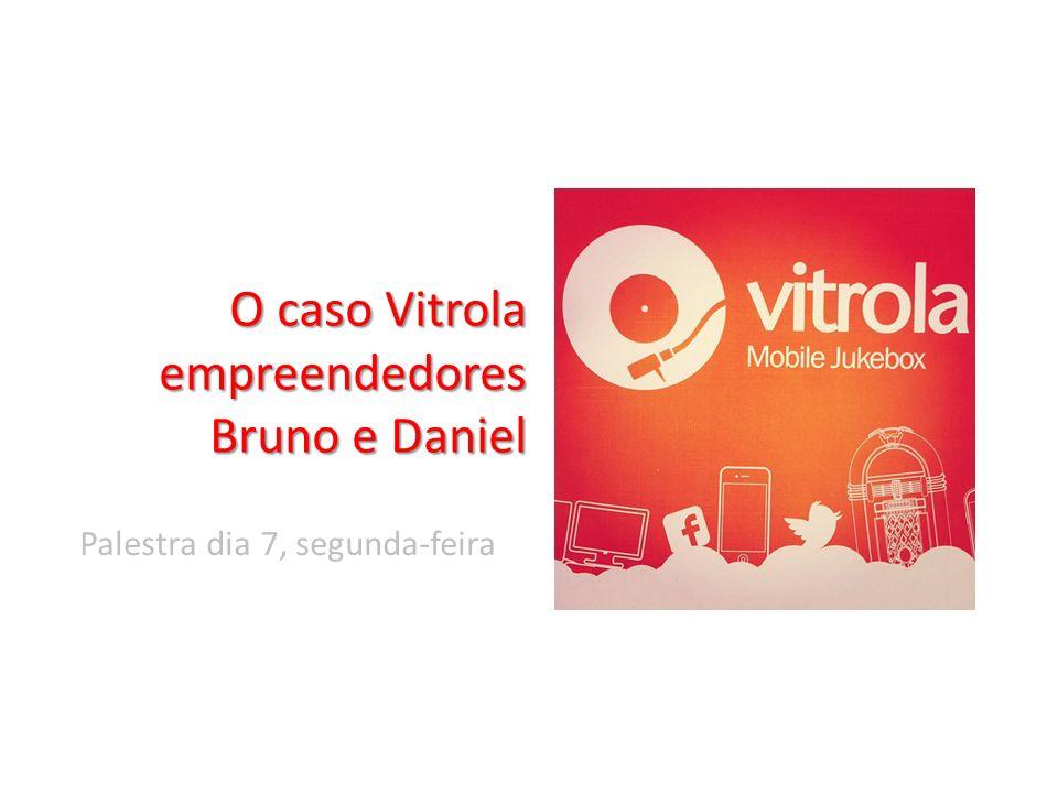 O caso Vitrola empreendedores Bruno e Daniel Palestra dia 7, segunda-feira