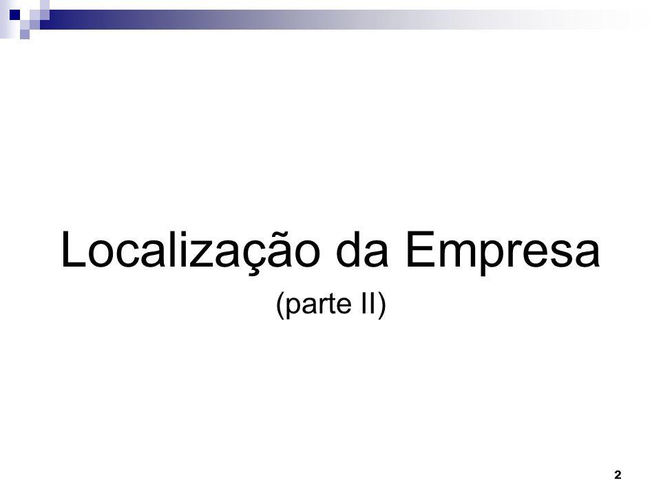 Localização da Empresa (parte II) 2