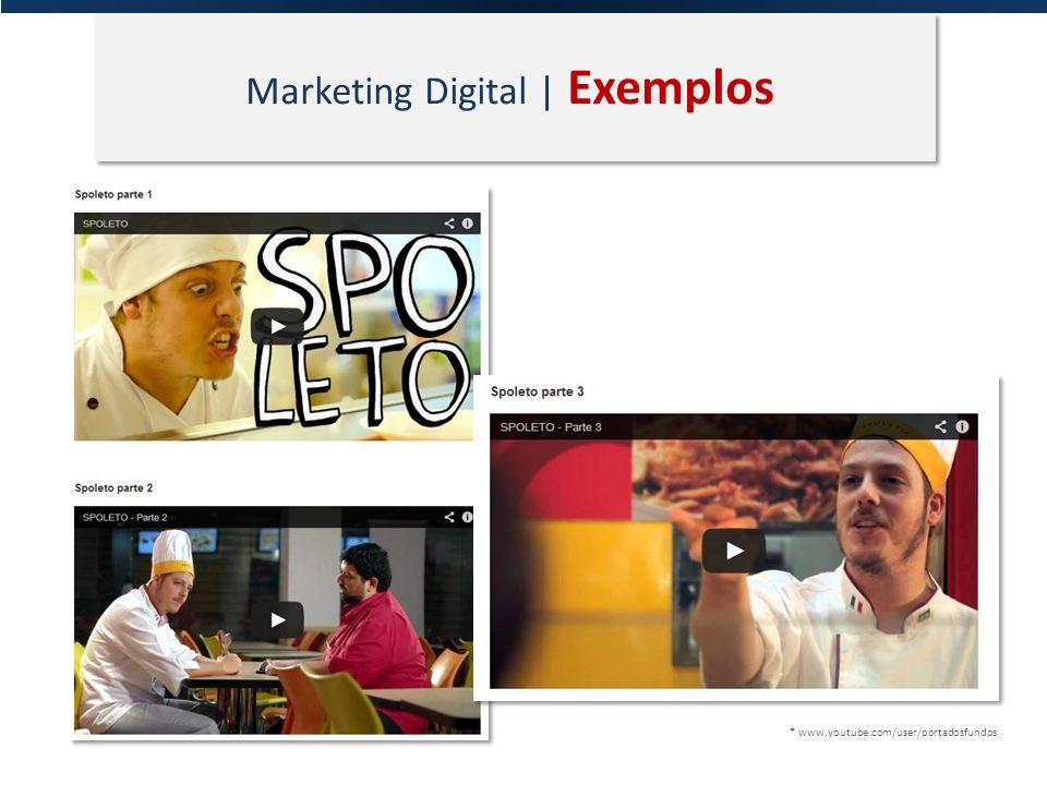 Marketing Digital | Exemplos * www.youtube.com/user/portadosfundos