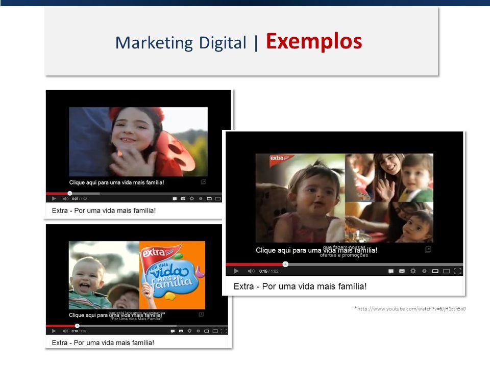 Marketing Digital | Exemplos *http://www.youtube.com/watch?v=6JjH1zth5x0