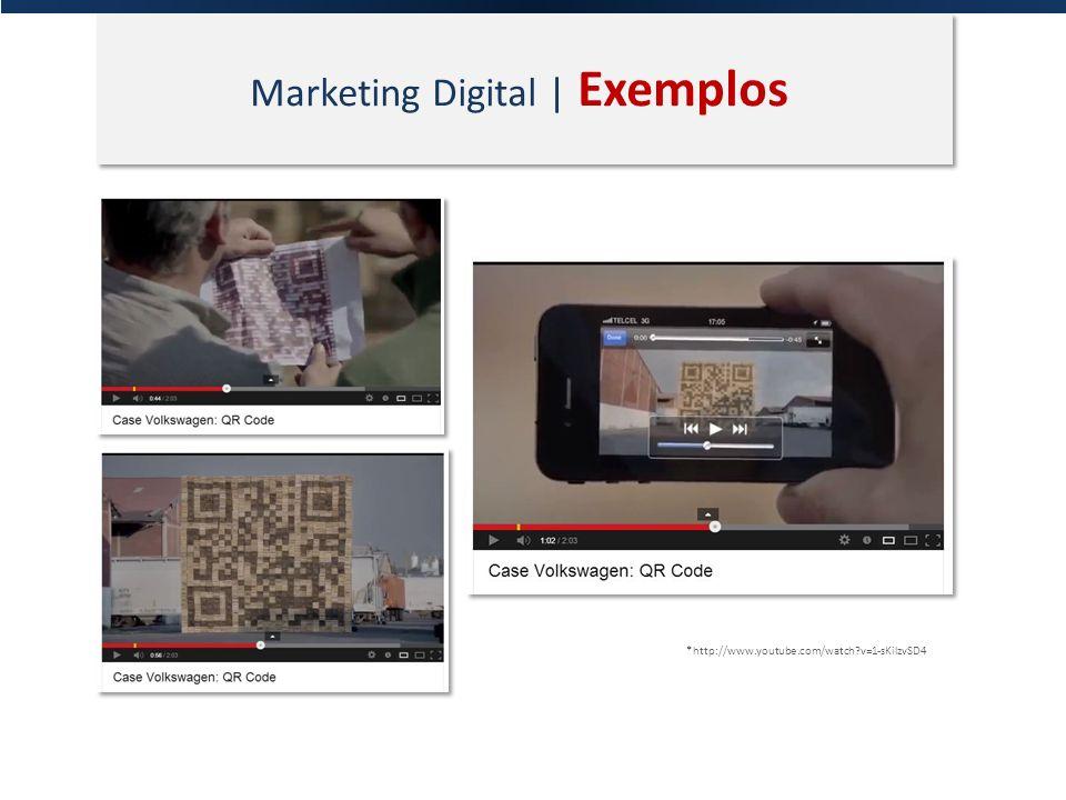 Marketing Digital | Exemplos *http://www.youtube.com/watch?v=1-sKilzvSD4