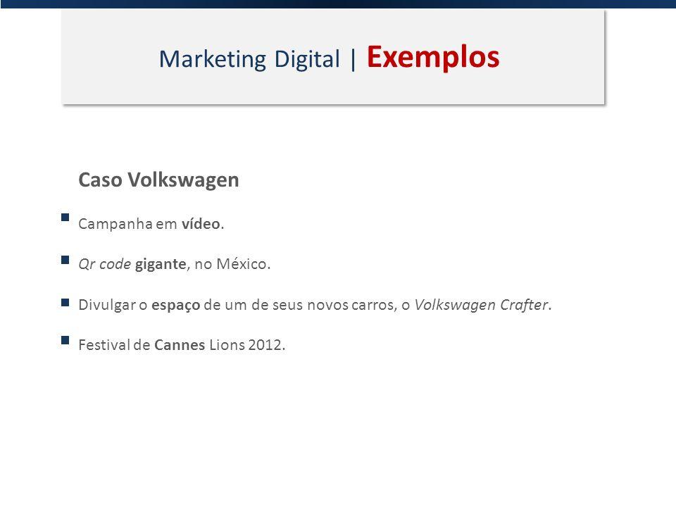 Marketing Digital | Exemplos Caso Volkswagen Campanha em vídeo. Qr code gigante, no México. Divulgar o espaço de um de seus novos carros, o Volkswagen