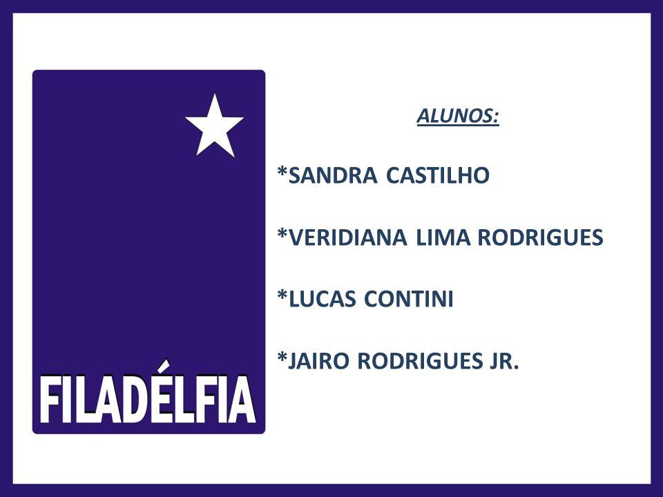 ALUNOS: *SANDRA CASTILHO *VERIDIANA LIMA RODRIGUES *LUCAS CONTINI *JAIRO RODRIGUES JR.