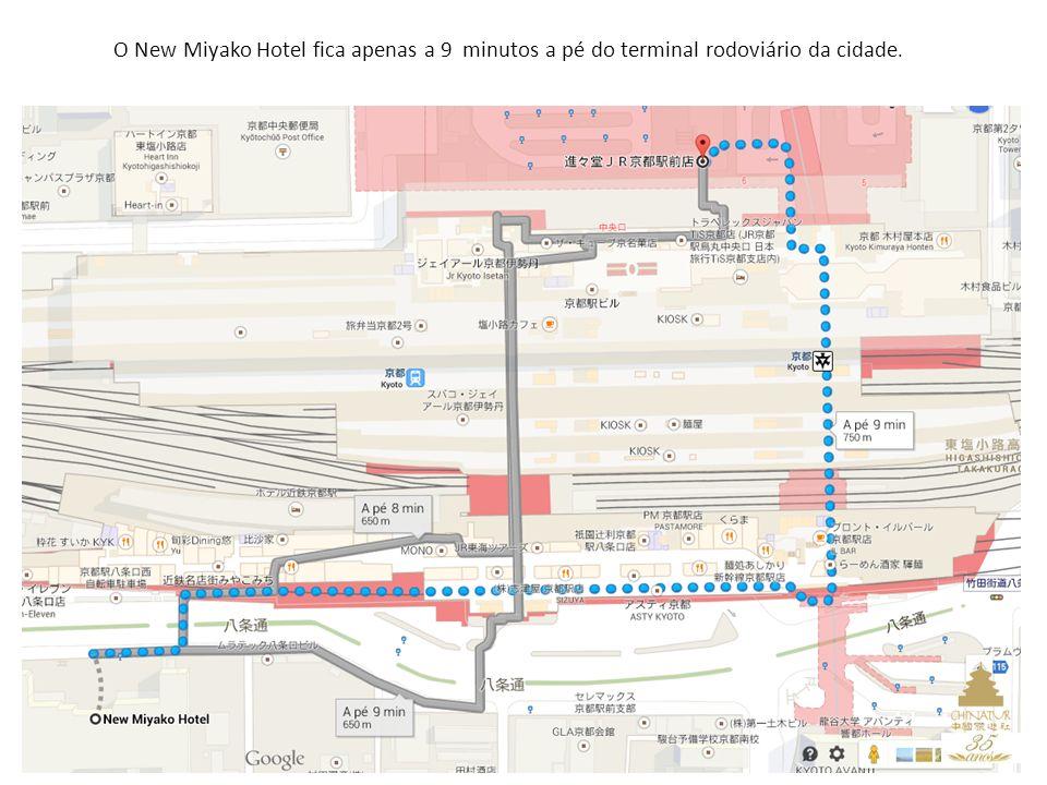 10 O New Miyako Hotel fica apenas a 9 minutos a pé do terminal rodoviário da cidade.