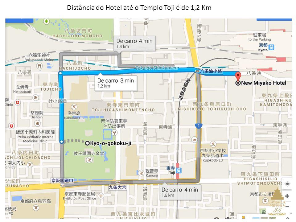 13 Distância do Hotel até o Templo Toji é de 1,2 Km