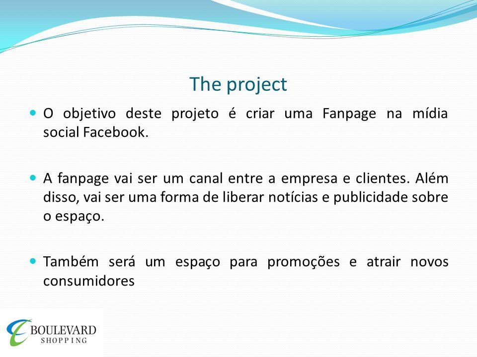 The project O objetivo deste projeto é criar uma Fanpage na mídia social Facebook. A fanpage vai ser um canal entre a empresa e clientes. Além disso,