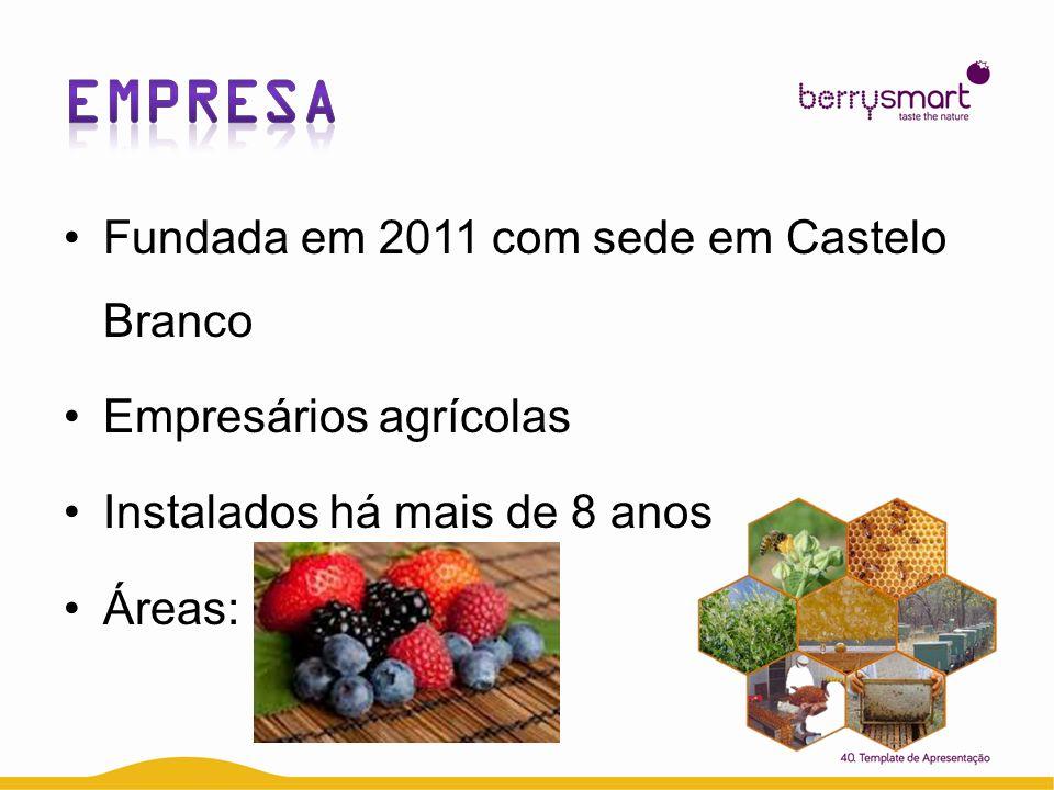 Fundada em 2011 com sede em Castelo Branco Empresários agrícolas Instalados há mais de 8 anos Áreas: