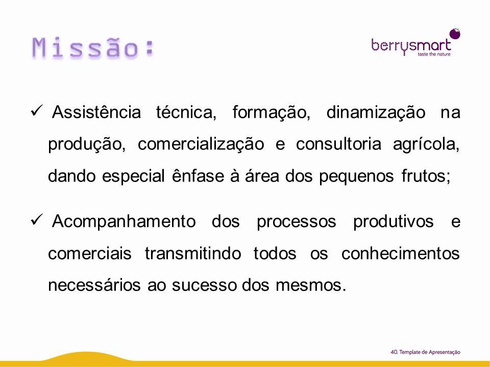 Assistência técnica, formação, dinamização na produção, comercialização e consultoria agrícola, dando especial ênfase à área dos pequenos frutos; Acom