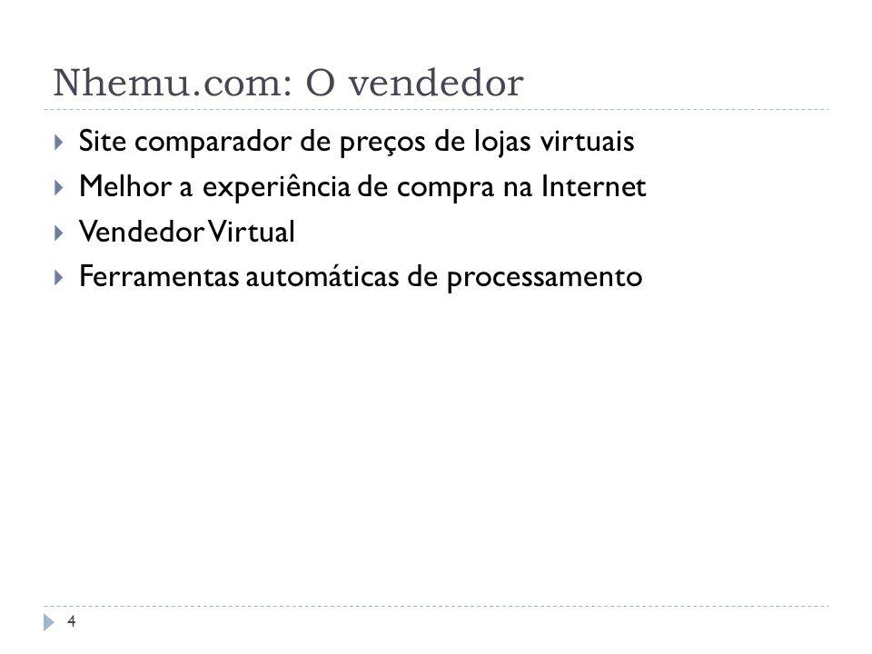 Nhemu.com: O vendedor Site comparador de preços de lojas virtuais Melhor a experiência de compra na Internet Vendedor Virtual Ferramentas automáticas