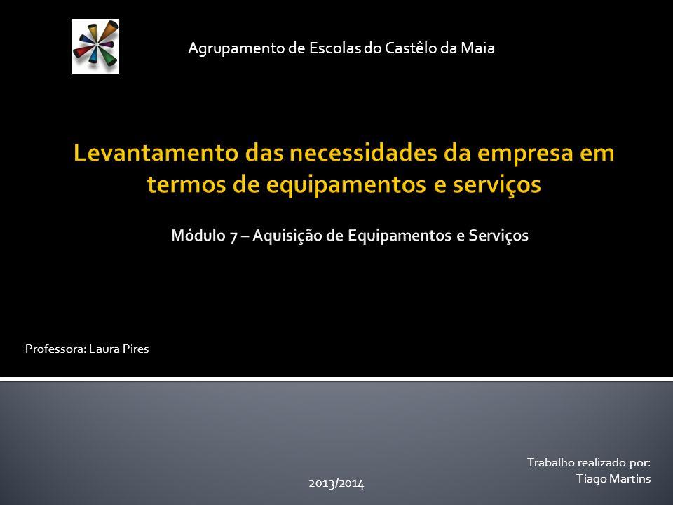 Trabalho realizado por: Tiago Martins Agrupamento de Escolas do Castêlo da Maia 2013/2014 Professora: Laura Pires