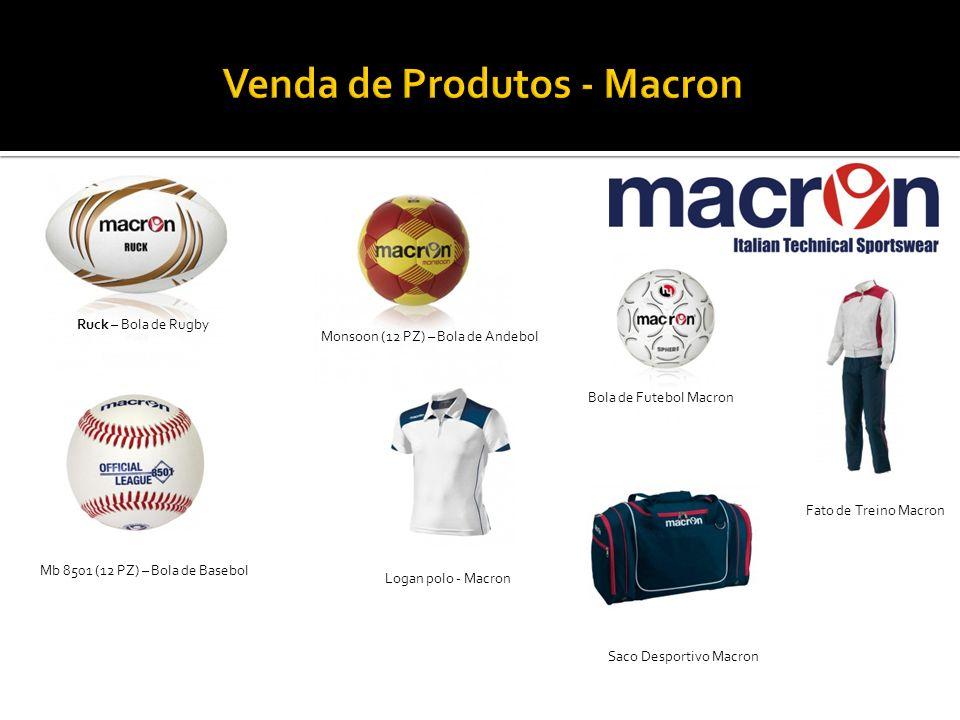 Ruck – Bola de Rugby Monsoon (12 PZ) – Bola de Andebol Mb 8501 (12 PZ) – Bola de Basebol Logan polo - Macron Bola de Futebol Macron Saco Desportivo Ma