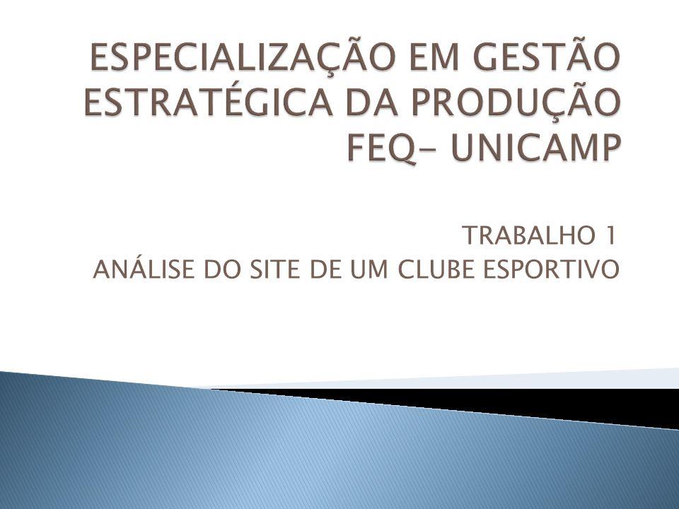 TRABALHO 1 ANÁLISE DO SITE DE UM CLUBE ESPORTIVO