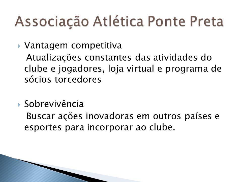 O site apresenta boas práticas como a TV Ponte, link com redes sociais, loja virtual e venda de ingressos.